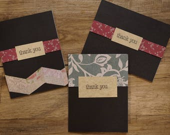 Simple Floral Thank You Cards