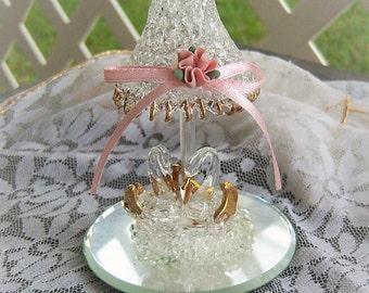 Vintage Swans, Blown Glass, Wedding Piece