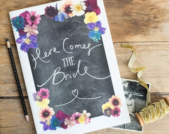 Here Comes the Bride - Vintage Style Hen Party Scrapbook - Hen Do / Hens Party / Bachelorette / Bridal Shower / Classy / Non Tacky