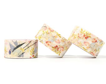 Forbidden City Washi Tape - Swallows & Flowers