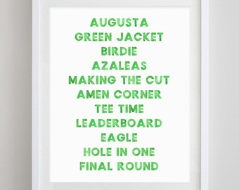 The Masters Golf Watercolor Art Print