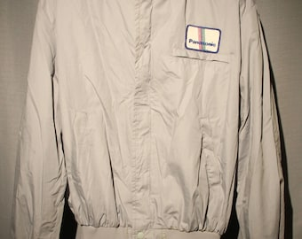 Vintage Panasonic Employee Light Jacket Coat Size XL +