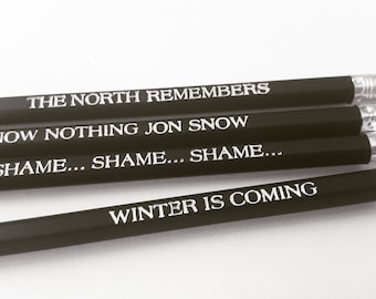 Game of Thrones Winter is Coming Lord Winterfell John Snow quotes OOAK  Birthday Gift
