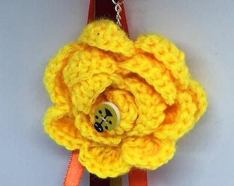 Yellow Flower Keyring