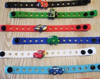 10 Cars Silicone Bracelets  Party Favors