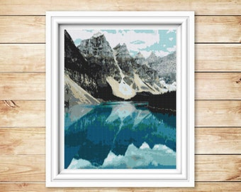 Cross stitch pattern Mountains,Instant download PDF