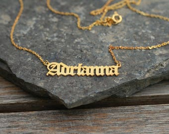 Monogram name necklaces etsy nz aloadofball Image collections