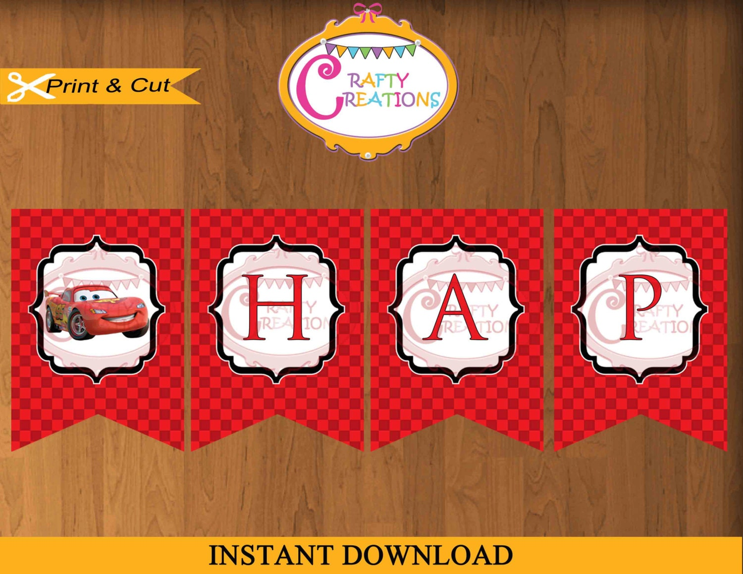 Printable Birthday Decorations Free ~ Instant download disney cars birthday banner printable