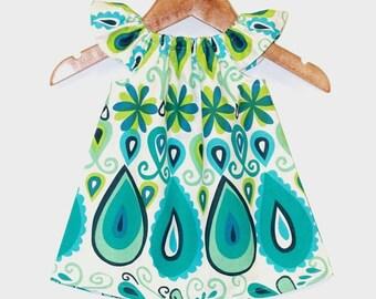 Boho Baby Dress, baby girl clothes, baby girl dress, baby clothing, kids clothing, baby girl clothing, summer baby dress,cotton,green dress
