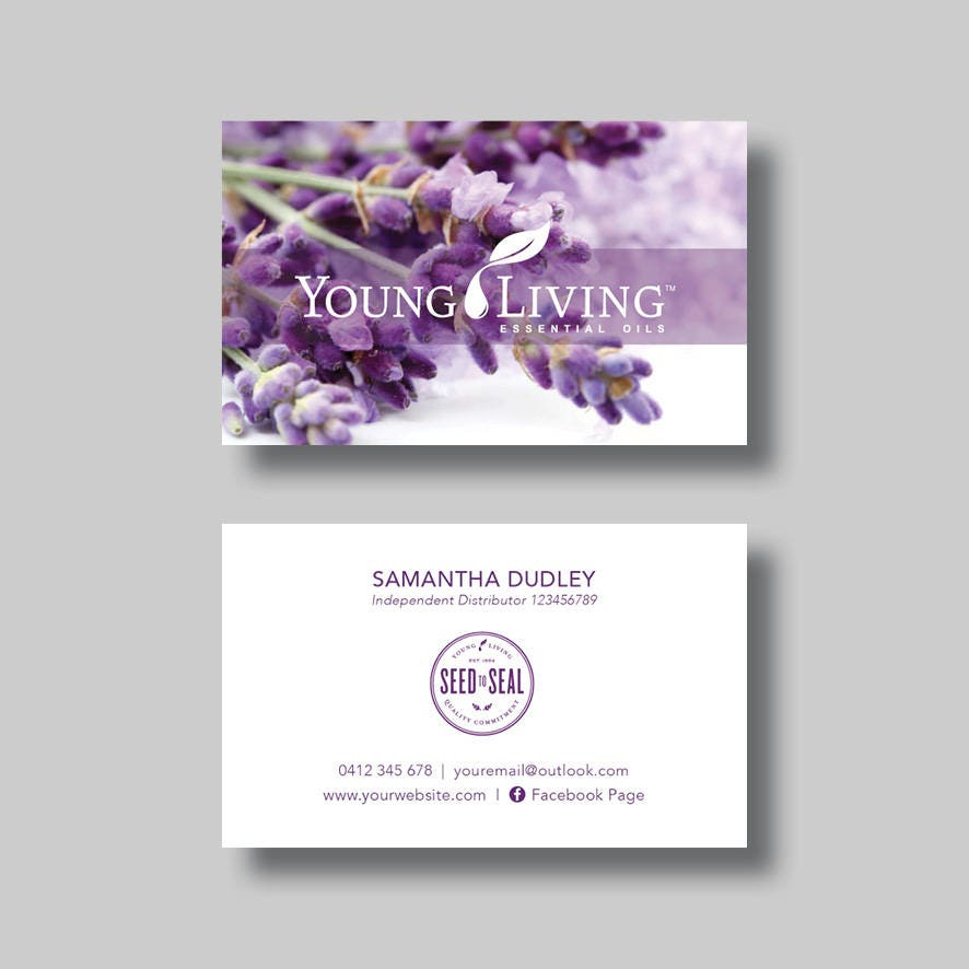 Young living essential oils business card purple digital zoom colourmoves