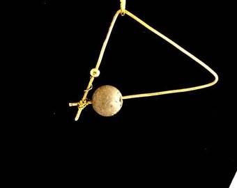 """NEW - Concrete, contemporary jewel """"Of Pythagoras"""", pendant necklace."""
