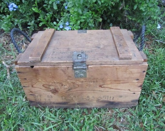 Vintage Ammo Box, Wood Ammo Box, Military Box