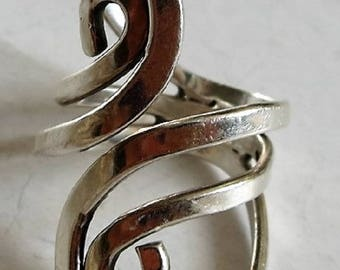 Big Bold Sterling Silver Ring Size 8