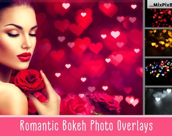 Heart Bokeh, Valentines Bokeh ,Romantic, Effect, Photo Overlays, Gold, Photoshop, Overlays, love, Wedding, silver, red, backdrop, Valentines