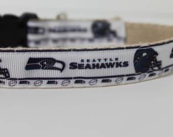 Seattle Seahawks hemp dog collar or leash