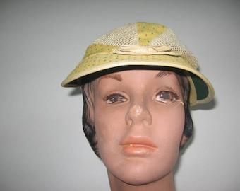 1960's NOS Linen-Look Sports Cap!
