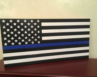 wooden flags, thin blue line flags, thin red line flags, american flag, custom flags, outdoor decor, indoor decor, house warming gift