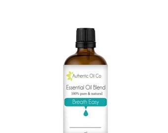 Breathe Easy Essential Oil Blend 100% Pure 10ml 50ml 100ml