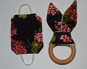 Baby Shower Gift Set | Bunny Ears Teether and Door Silencer