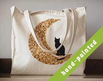 cat lover gift - tote bag/ crazy cat lady/ unique personalized gift for women/ gift for friend/ natural cotton tote/  canvas bag, Eco bag