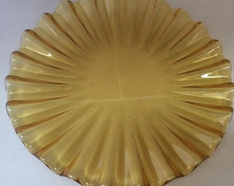Fused Glass Scalloped Plates