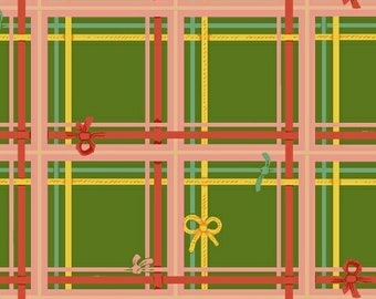 Sugarplum Green Plaid 50168-5 By Heather Ross for Windham Fabrics