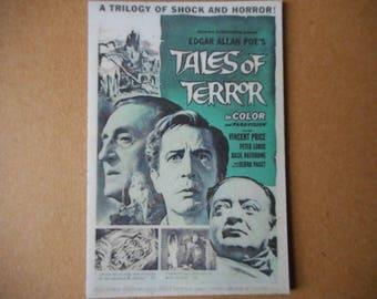 Magnet Tales of Terror Edgar Allan Poe movie poster magnet Vincent Price Basil Rathbone Peter Lorre horror trilogy Debra Paget