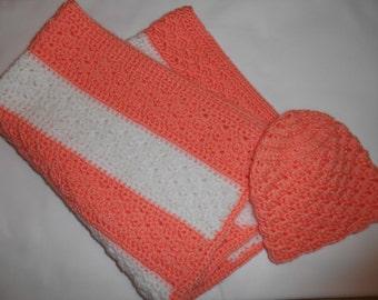 Newborn Blanket and Beanie