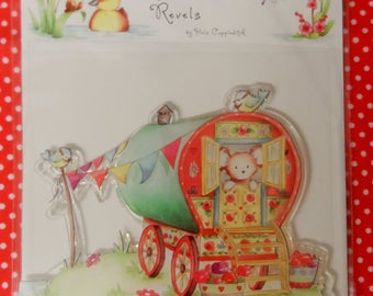 Riverbank Revels Clear Stamp Caravan Design Approx. 95mm x 76mm