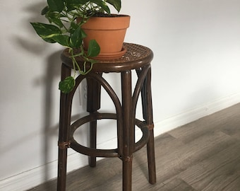 Rattan/Bamboo Plant stand/stool
