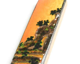 Desert Scene Wooden Pendant