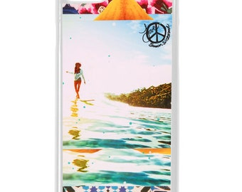 NEW iPhone 7/7+ Case,  Bloom Lauren Hill, Best Seller, Hawaii, Beach, Surf, Surf Art, Tropical, Art, Avail. with Black or White case color