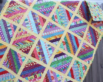 Quilt Handmade Baby Toddler Child Bright Fabric Crib Quilt, 37 x 50, baby crib quilt, gender neutral quilt