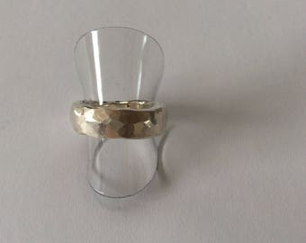 Forged fine silver Ring