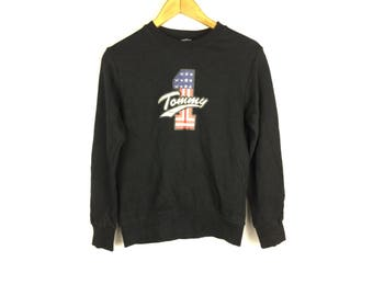 TOMMY HILFIGER Tommy Girl Jeans Long Sleeve Sweatshirt With Big Logo Small Size