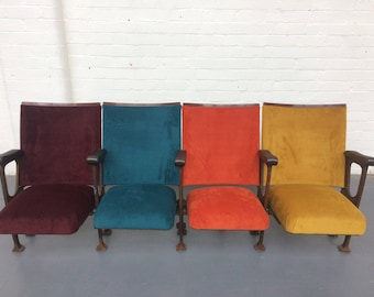 Vintage Cinema Seats - Set of 4