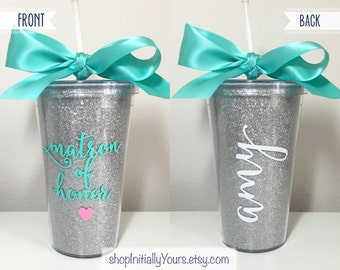 Personalized Matron of Honor Tumbler, Will You Be My Matron of Honor, Matron of Honor Proposal, Matron of Honor Gift, Matron of Honor Cup