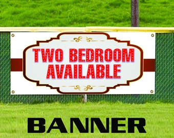 Two Bedroom Available Real Estate Apartment Rent Custom Banner Sign