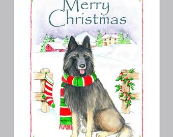 Belgian Tervuren Christmas Cards Box of 16 Cards & Envelopes