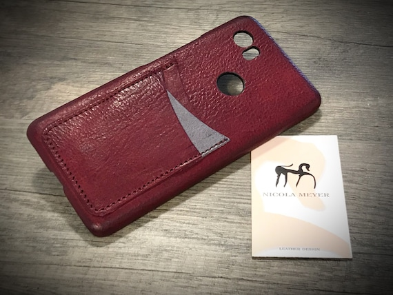 Google Pixel 1 XL (bigger one) Italian Leather Case 3 cards slots to use as protection Choose COLORS