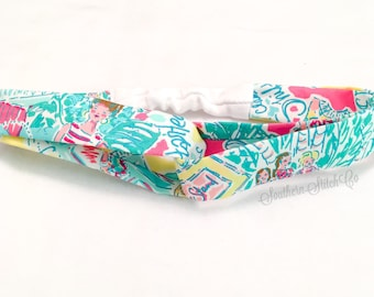 """Turban Style Headband in Lilly Pulitzer """"In the Beginning"""" Fabric"""