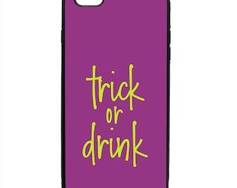 Halloween Trick Or Drink Phone Case Samsung Galaxy S5 S6 S7 S8 S9 Note Edge iPhone 4 4S 5 5S 5C 6 6S 7 7S 8 8S X SE Plus
