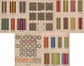 1925 Tablet Hand Weaving Book Patterns DIY Build Card Carton Loom Weave Inkle Plans Use