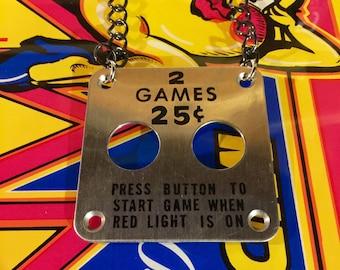 Arcade 25 Cents Coin Necklace