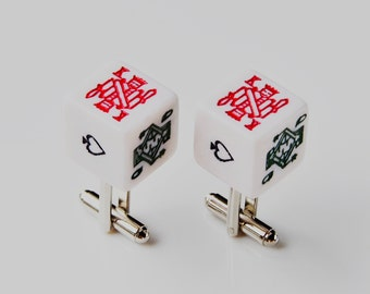 Choose Your Own Suit Dice Cufflinks