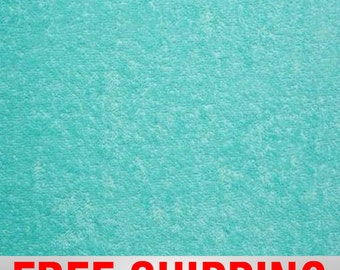 "Terry Cloth Fabric Towel Fabric. Green Aruba. 57"" Wide. 100% Cotton. Free Shipping Style# TC-8005"