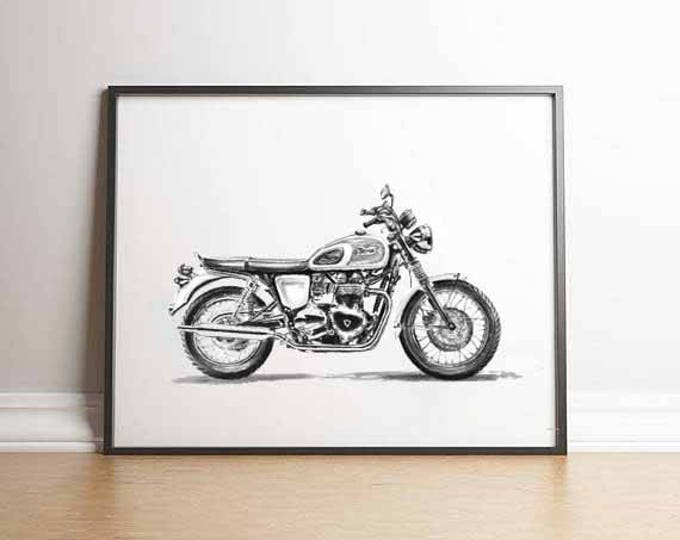 Featured listing image: Triumph Bonneville Triumph Motorcycle Classic Motorcycle Gift Men Motorcycle Gift Triumph Gift British Motorcycle Motorcycle Gift Him