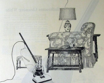 vintage ads from Saturday Evening Post 1924 Fuller Brush Hoover cleaning