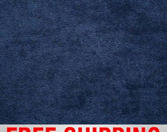 """Terry Cloth Fabric Towel Fabric. Navy. 57"""" Wide. 100% Cotton. Free Shipping Style# TC-8009"""