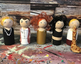 Wooden Peg People Inspired by Witches of Eastwick